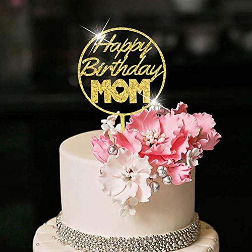 Swell Amazon Com Yuinyo Happy Birthday Cake Topper For Mom Party Cake Personalised Birthday Cards Cominlily Jamesorg