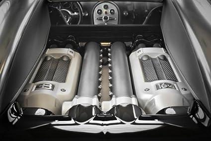 Amazon Com Bugatti Veyron W16 Engine Motor Hd Poster Super Car 24 X