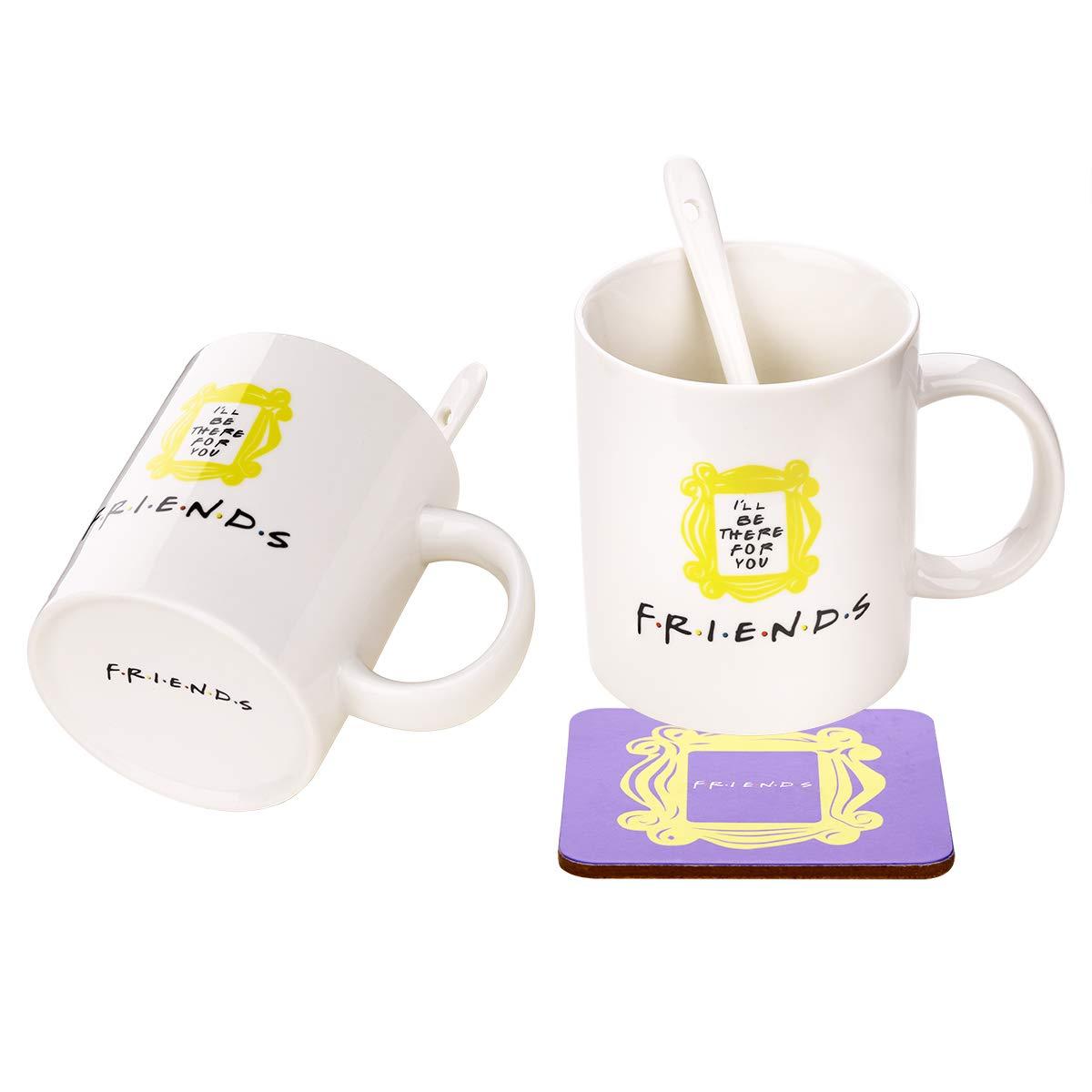 ویکالا · خرید  اصل اورجینال · خرید از آمازون · Peephole Yellow Frame Coffee Cup &Mugs Milk Cup Monica's Door Frame 1Cup + 1 Spoon + 1 Coaster Great Present for Fan!Ready to Hang. wekala · ویکالا