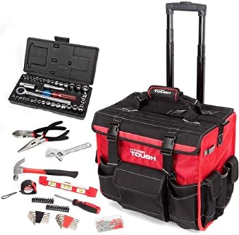 HyperTough 174-pc. Tool Set w/Trolley Bag