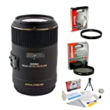 Sigma 105mm f/2.8 DG OS HSM APO Macro Lens for Nikon + Opteka UV Filter + Opteka CPL Filter + Opteka 5 Piece Cleaning Kit