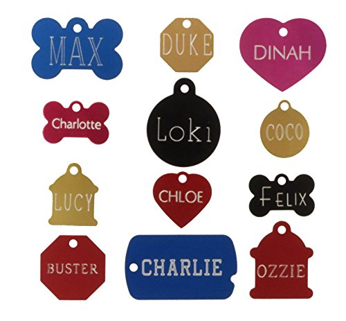 Fire Hydrant Pet Tag (Custom Engraved Pet ID Tags For Your Dog Or Cat, Personalized Front And Back, Up To Four Lines Of Text Per Side, Many Shapes And Colors To Choose From, Small And Large Sizes Suitable For All Pets!)