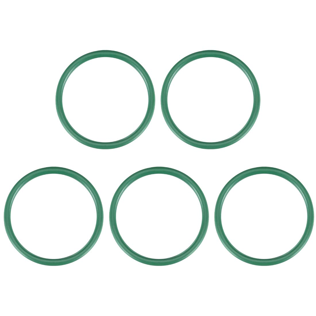Green 33mm OD 26.8mm ID 3.1mm Width FKM Seal Gasket for Vehicle Machinery Plumbing uxcell Fluorine Rubber O-Rings Pack of 5