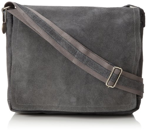David King & Co. Full Flap Messenger Distressed, Grey, One Size (David Small King Flap)
