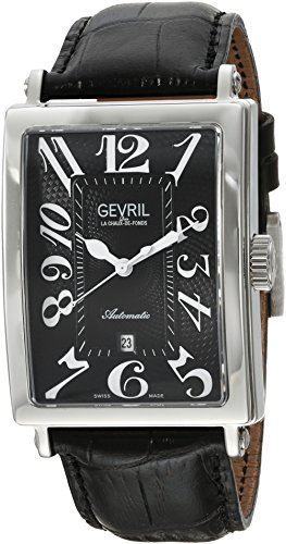 Gevril Avenue of Americas Men's Swiss-Automatic Rectangle...