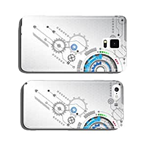 Abstract circuit technology background vector illustration cell phone cover case Samsung S5