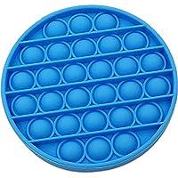 Pop it Bubble Sensory Fidget Toy Autism Stress Relief Silent Classroom Special Needs Stress Reliever - Blue