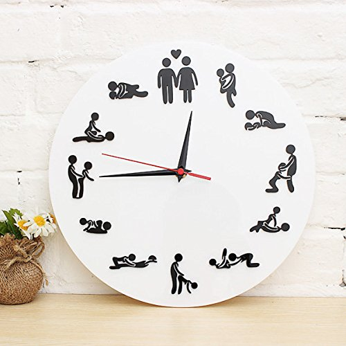 Bazaar The Clock Of Sex Fun 12 Sex Posture Wall clock Fashion Home Decor by Big Bazaar
