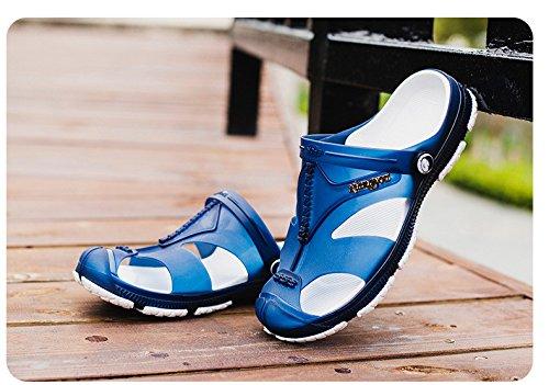 Trend Freizeit Männer Schuh Loch Strand Sandalen Persönlichkeit Rutschfest Absturz Dualer Gebrauch Waten ,blau,US=6.5,UK=6,EU=39 1/3,CN=39