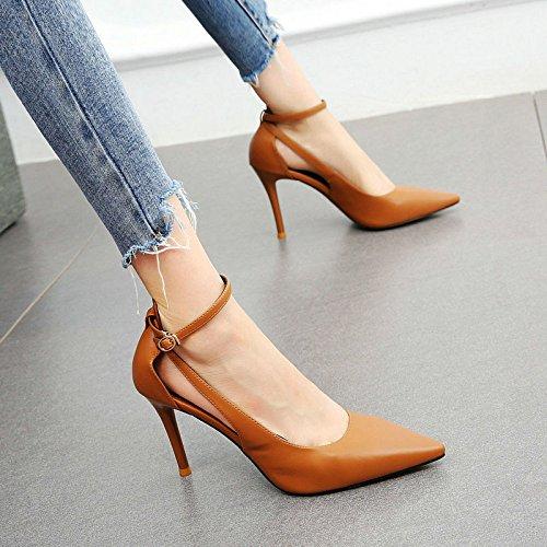 F singoli sandali punta YMFIE eleganti sandali con sottile temperamento e femminile Moda alti estivi tacchi semplice sexy a wYYx6TA8q