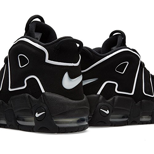 NIKE Mens Air More Uptempo Black/White-Black Leather Black/White-black Rt1RjkGKJ