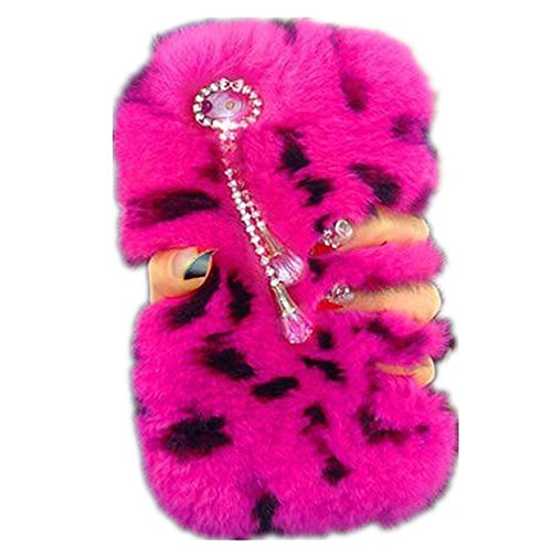 - Galaxy S8 Plus Case,Super Deluxe Luxury Faux Rabbit Fur Fuzzy Plush Beaver Rex Rabbit Hair Fur Case for Samsung Galaxy S8 Plus (Pendant Rose Leopard)