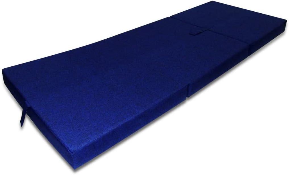 Tidyard Matelas Pliant Lit Futon Pliable en 3 Sections Mousse 190 x 70 x 9 cm Rouge Choix des Couleurs