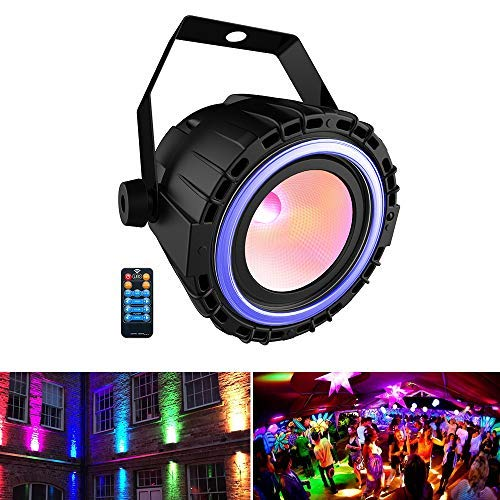 Stage Light, SHENMATE COB LED Par Light with Remote & DMX control, Stage Lighting for Party, Wedding, Live Show, DJ Gigs, Band Performance (All Color + ()