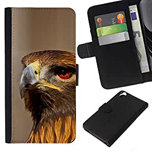 All Phone Most Case / Oferta Especial Cáscara Funda de cuero Monedero Cubierta de proteccion Caso / Wallet Case for HTC Desire 820 // Hawk Bird Ornithology Nature Prey Hunting