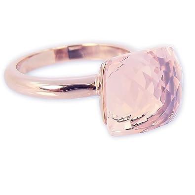 Modeschmuck ringe rosegold  Ring Rosegold Rosa Kristall - Damen Ring von NOBEL SCHMUCK - Made ...
