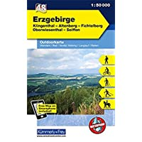 K&F Deutschland Outdoorkarte 48 Erzgebirge 1 : 50.000: Klingenthal - Altenberg - Fichtelberg - Oberwiesenthal - Seiffen (Kümmerly+Frey Outdoorkarten Deutschland)