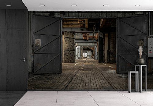 Cheap  wall26 - Large Industrial Door in a Factory - Removable Wall Mural..