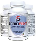 Premium Brain Function Supplement - Complete Mental Health Nootropic – Support for Memory, Focus, Energy & Clarity - Ginkgo Biloba, DMAE, Rhodiola Rosea, Bacopa Monnieri & More