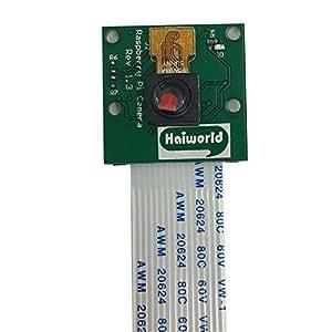 Haiworld Módulo de cámara 5MP Webcam Video 1080p 720p para Raspberry Pi 3 Model B Pi 2