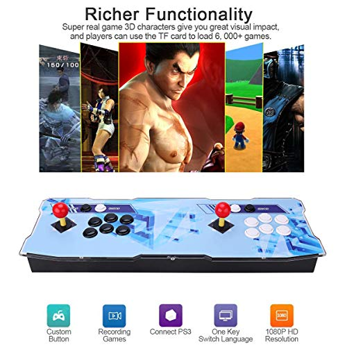 Pandora Treasure 3D Retro Arcade Game Console Machine | Includes 2260 HD Games | Full HD (1920x1080) | 2 Player Game Controls | Add More Games | Support 4 Players | HDMI/VGA/USB/AUX Audio Output by HAAMIIQII (Image #3)