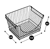 Smart Design Stacking Baskets Organizer - Large