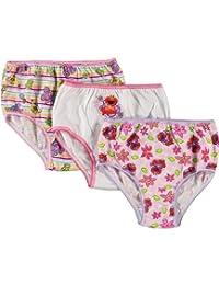 "Sesame Street Little Girls' Toddler ""Spring Flowers"" 3-Pack Panties"