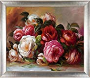 La Pastiche RN2244-FR-49715120X24 Discarded Roses with Spencer Rustic Framed Hand Painted Oil Reproduction, 28