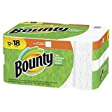 Bounty Paper Towels, White, Single Plus Rolls, 12 Count (Equal to 18 Single Rolls)