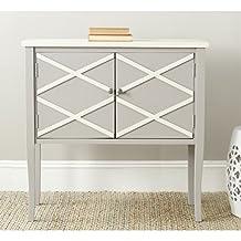 Safavieh Winona Poplar Wood Sideboard in Grey and White