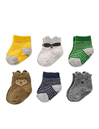 Carter's Baby Boys' Crew Socks (6 Pack)