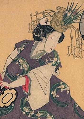 Carnet Ligne Estampe Femme Au Tambour, Japon 19e (Bnf Estampes)  [Sans Auteur] (Tapa Blanda)