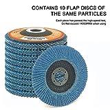 """60 Grit Flap Disc, 4-1/2"""" X 7/8"""", T27 Premium"""
