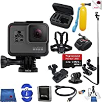 Gopro Hero 5 Black 14 Piece Frontier Bundle Includes: Go Pro Hero5 Black + Case + Floaty Bobber + Chest Strap + Wrist Mount + Monopod + More