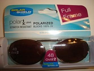 2fb397d851 Solar Shield size 48 Oval 2 Amber Driving lens Polarized Clip on Sunglasses  full frame
