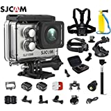 SJCAM SJ7 Star Kit SJ7 Camera with Accessories, 6-in-1 Accessories Real 4K Action Camera Wifi Waterproof Underwater Camera Ambarella Chipset 30FPS/Sony Sensor 12MP Gyro Stabilization-Silver