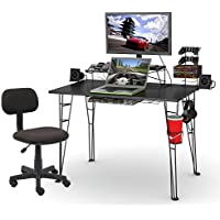 Atlantic Inc Gaming Desk and Task Chair Set in Black