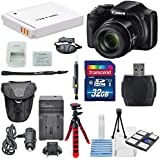Canon PowerShot SX540 IS Wi-Fi Enabled Digital Camera and Deluxe Accessory Bundle Including 32 GB SDHC + Zoom Protector Case + Flex Tripod + AC/DC Turbo Travel Charger + along with a Deluxe Bundle