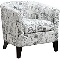 AC Pacific Barrel Back Jerry Accent Chair