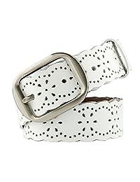 JasGood Fashion Women's Genuine Leather Waist Belt With Alloy Buckle