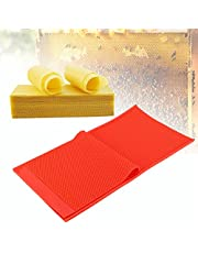 Beeswax Sheets, Beeswax Foundation, Beeswax Mold, 2Pcs DIY Rubber Comb Foundation Press Mold Beekeeping Accessory