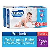 Huggies Ultraconfort, Niño, Etapa 3, 216 Pañales