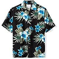 28 Palms Men's Relaxed-Fit Short-Sleeve 100% Silk Hawaiian Shirt