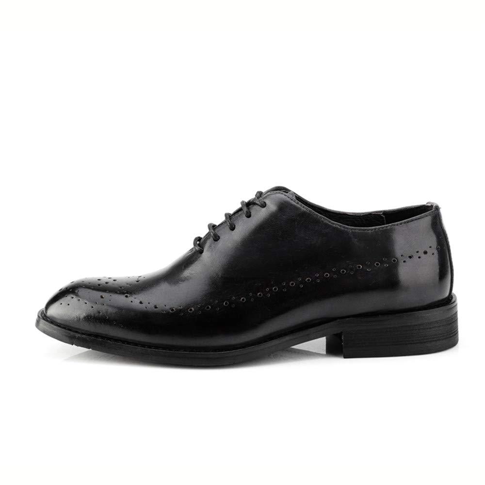 Ofgcfbvxd Männer schnüren Sich Klassische Retro Mode Schuhe Oxford Pinsel Farbe Brogue Schuhe Mode Kleid Hochzeit Schuhe (Farbe : Grau, Größe : 43 EU) Schwarz 769948