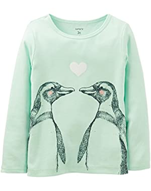 Baby Girls' Penguin Tee (Baby) - Mint