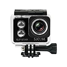 Official SJCAM® SJ7 Star WiFi Action Camera (Black), 4K UltraHD, 30M Waterproof, Touchscreen, Metal Body, Gyro Stabilization, Time Lapse & Slow Motion, Car Dashcam FPV