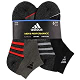 Adidas Men's 6-pair LowCut Climalite Cushioned CompressionSocks Regular Extended