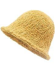 ZLYC Womens Warm Wool Cloche Hat Solid Winter Bucket Hats