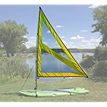 NEW! Spirit Large Paddle Board Sail Kit (Yellow) with Telescoping Mast and Boom - Compact, Portable, Easy to set up design!