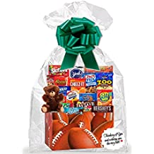 FootBall Thinking Of You Cookies, Candy & More Care Package Snack Gift Box Bundle Set